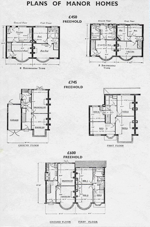 Plans of Manor Homes